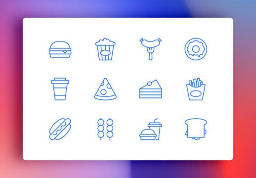 Restaurant Minimalist Icons