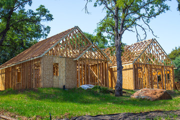 Framing On New Home Construction