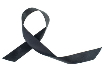 Black ribbon-symbol of fight against melanoma and skin cancer