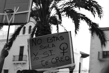 Protests and banners around Spain over La Manada