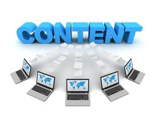 content 3d concept illustration