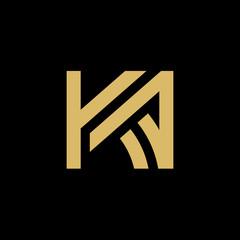 Initial Letter KA Logo, Vector Illustration Design