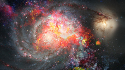 Small part of an star field of space. Elements of this image furnished by NASA.