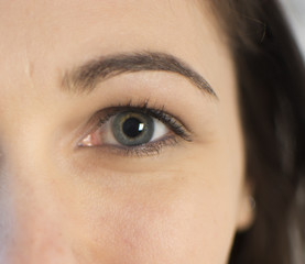 Eye and eyebrow at the girl