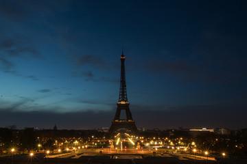 Acrylic Prints Eiffel Tower Pre-dawn at the Eiffel Tower in Paris, France