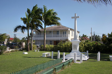 War Memorial in the centre of the town, Falmouth, Jamaica, Caribbean.