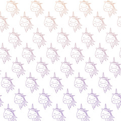 background of cute unicorns, colorful design. vector illustration