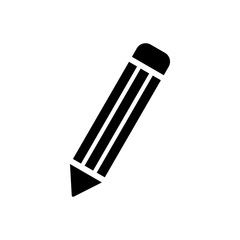pencil icon isolated vector