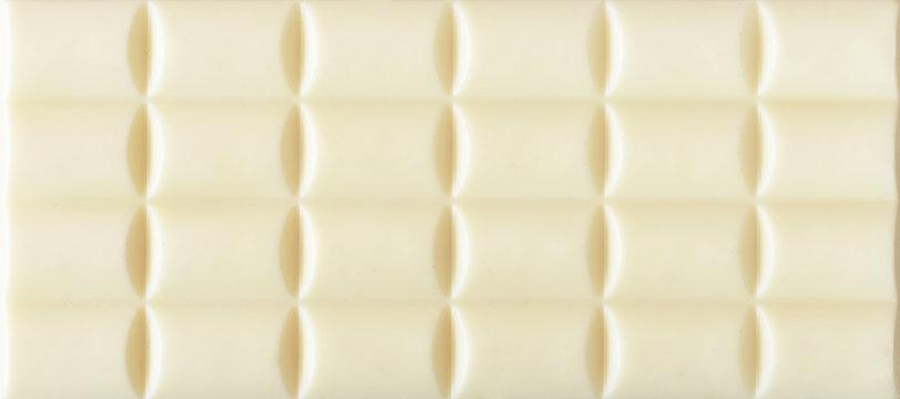 White porous chocolate top view