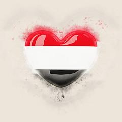 Heart with flag of yemen