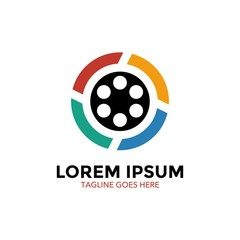 unique movie logo. icon. vector illustration