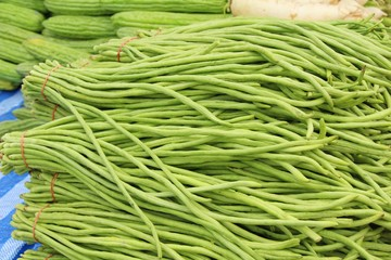 Long bean for cooking in the market