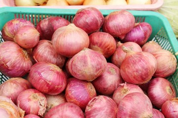 shallots for cooking at market