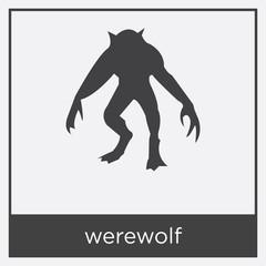 werewolf icon isolated on white background