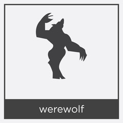 werewolf icon isolated on white background