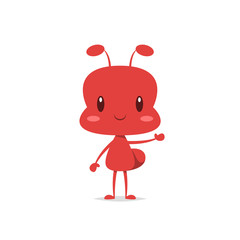 Cute ant vector isolated
