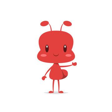 Cute ant vector isolated