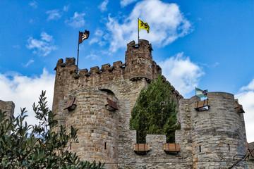 Burg Gravensteen in Gent ist die Burg der Grafen von Flandern, in Belgien