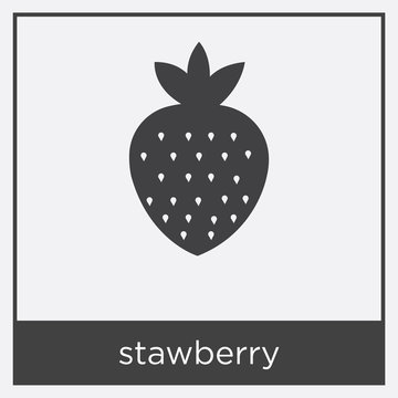 stawberry icon isolated on white background