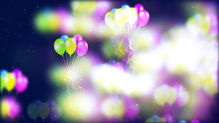 Background with nice flying balloons