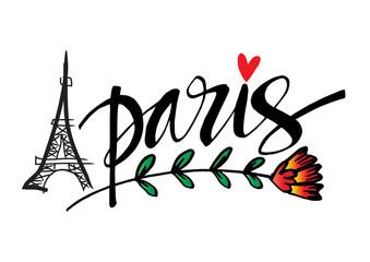 Paris Europe European city name city name hand-drawing