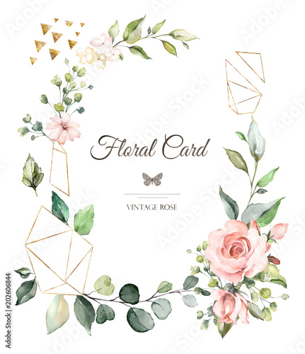 Quot Card Watercolor Wedding Invitation Design With Pink