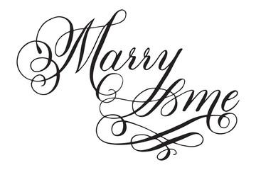 Wedding modern calligraphy