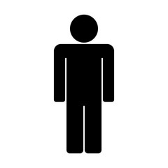 Man Icon Clipart. Vector Illustration.