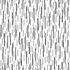 Linear geometric seamless pattern. Black and white background with vertical strips. Vector illustration.