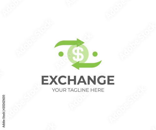 money exchange logo template currency exchange vector design