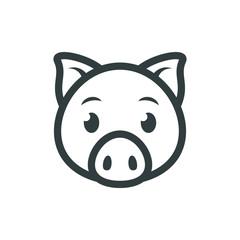 Pig icon. Pig logo