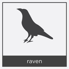 raven icon isolated on white background