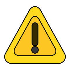 alert sign triangle icon vector illustration design