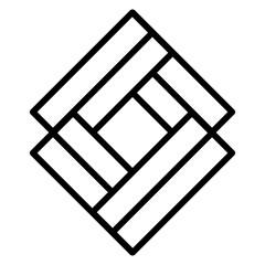business emblem with rhombus shape vector illustration design