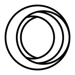 business emblem with circular shape vector illustration design