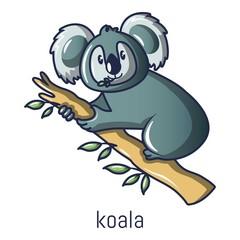 Koala icon. Cartoon illustration of koala vector icon for web