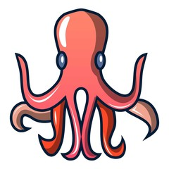 Octopus icon. Cartoon illustration of octopus vector icon for web