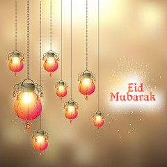 nice and beautiful abstract or poster for Eid Mubarak or Ramadan Kareem with nice and creative design illustration.