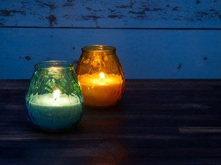 Citronella candles and mosquito spiral