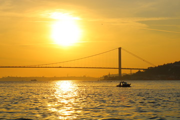 Bosphorus Bridge at Sunset