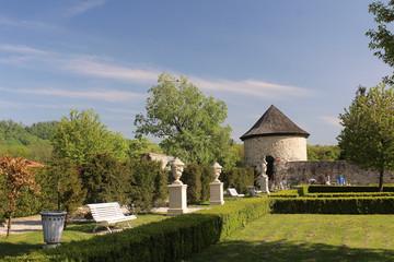 Garden of the Slovak castle Cerveny kamen