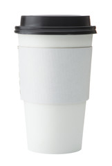 White To Go Coffee Cup with Black Lid