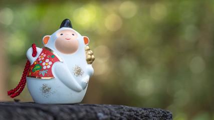 Japanese monkey bell lucky charm