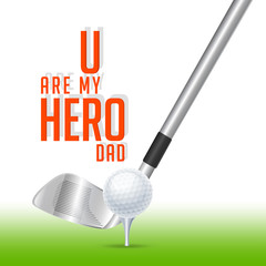 nice and beautiful abstarct or poster for Father's Day or You are my Hero Dad with nice and creative design illustration.