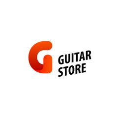 Minimalistic design of logo for Guitar store