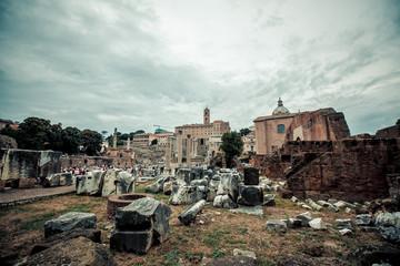 Colosseum in Rome, Italy. Landmark, italian roman ancient famous architecture