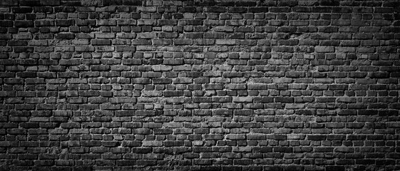Old Black brick wall background
