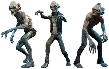 Zombies 3D illustration