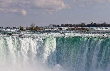 Isolated image of an amazing Niagara waterfall