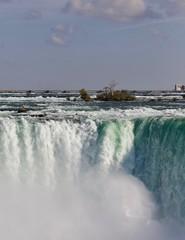 Background with an amazing Niagara waterfall
